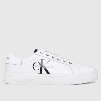 CALVIN KLEIN White Cupsole Sneaker Mens Trainers