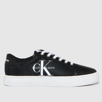 CALVIN KLEIN Black & White Cupsole Sneaker Mens Trainers