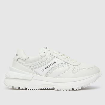 CALVIN KLEIN White Runner Lace Up Sneaker Mens Trainers