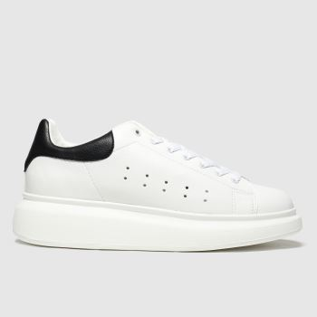 Schuh White & Black Regal Mens Trainers