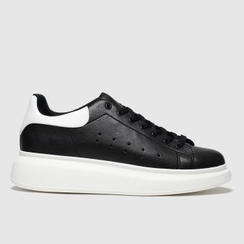 schuh Black & White Regal Mens Trainers