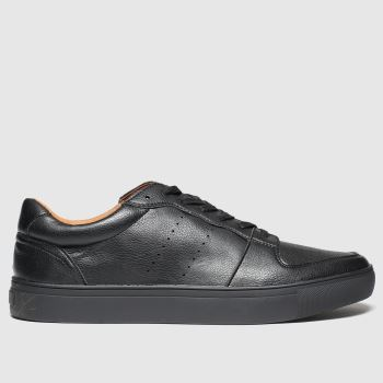 schuh Black Wigham Mens Trainers