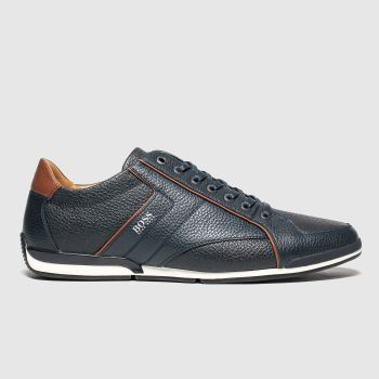 BOSS Navy Saturn Low Mens Trainers