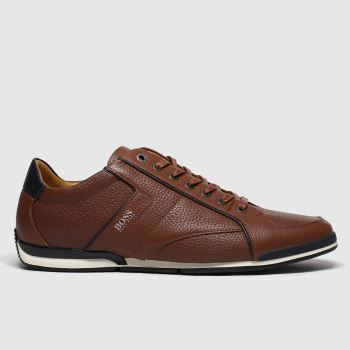 BOSS Brown Saturn Low c2namevalue::Mens Trainers