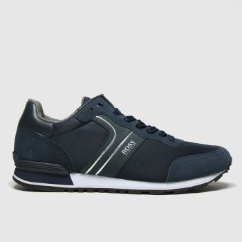BOSS Navy Parkour Runner Mens Trainers