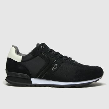 BOSS Black & White Parkour Runner Mens Trainers
