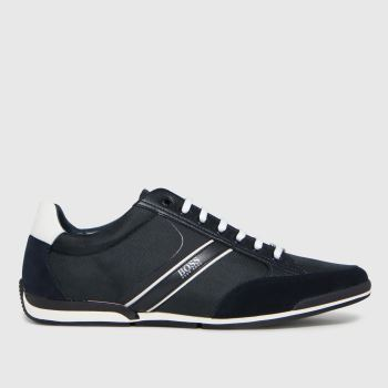 BOSS Navy & White Saturn Low Mens Trainers