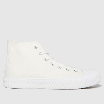 schuh White Wilson Hi Top Canvas Mens Trainers