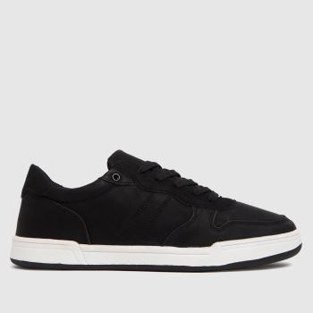 schuh black wes cupsole trainers