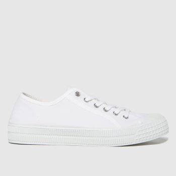 schuh White Vinnie Recylced Canvas Mens Trainers