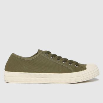 schuh Khaki Vinnie Recycled Canvas Mens Trainers