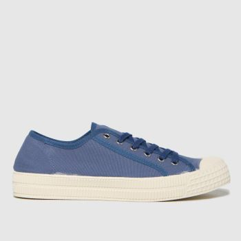 schuh Blue Vinnie Recycled Canvas Mens Trainers