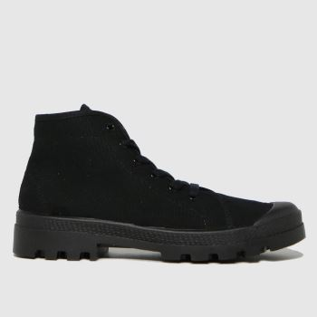 schuh Black Vince Recycled Canvas Mens Trainers