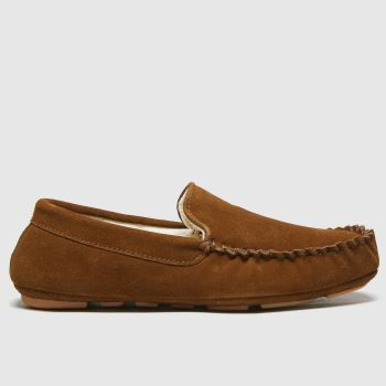 schuh Tan Sawyer Suede Mocc Mens Slippers#