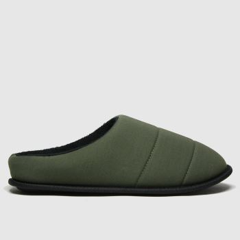 schuh Khaki Seth Padded Mule Mens Slippers