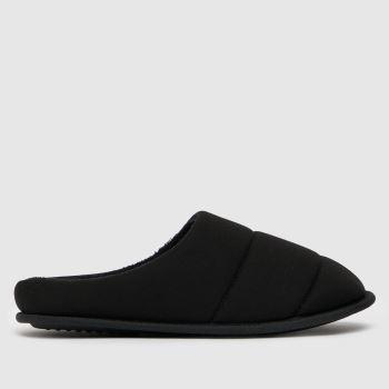 schuh Black Seth Padded Mule Mens Slippers
