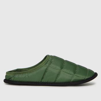 schuh Khaki Sutton Padded Mule Mens Slippers