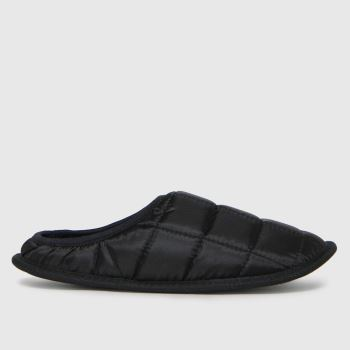 schuh Black Sutton Padded Mule Mens Slippers