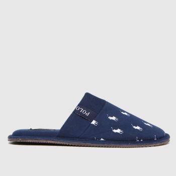 Polo Ralph Lauren Navy & White Kollin Mens Slippers