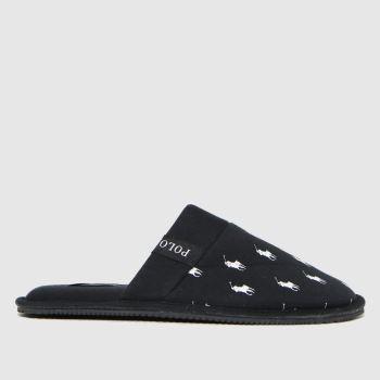 Polo Ralph Lauren Black & White Kollin Mens Slippers
