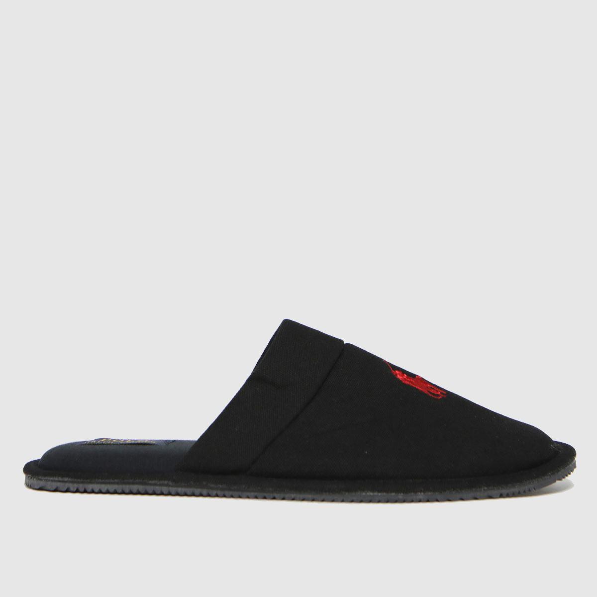 Polo Ralph Lauren Black & Red Klarence Slippers