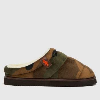 Polo Ralph Lauren Dark Green Rl Sutton Mens Slippers