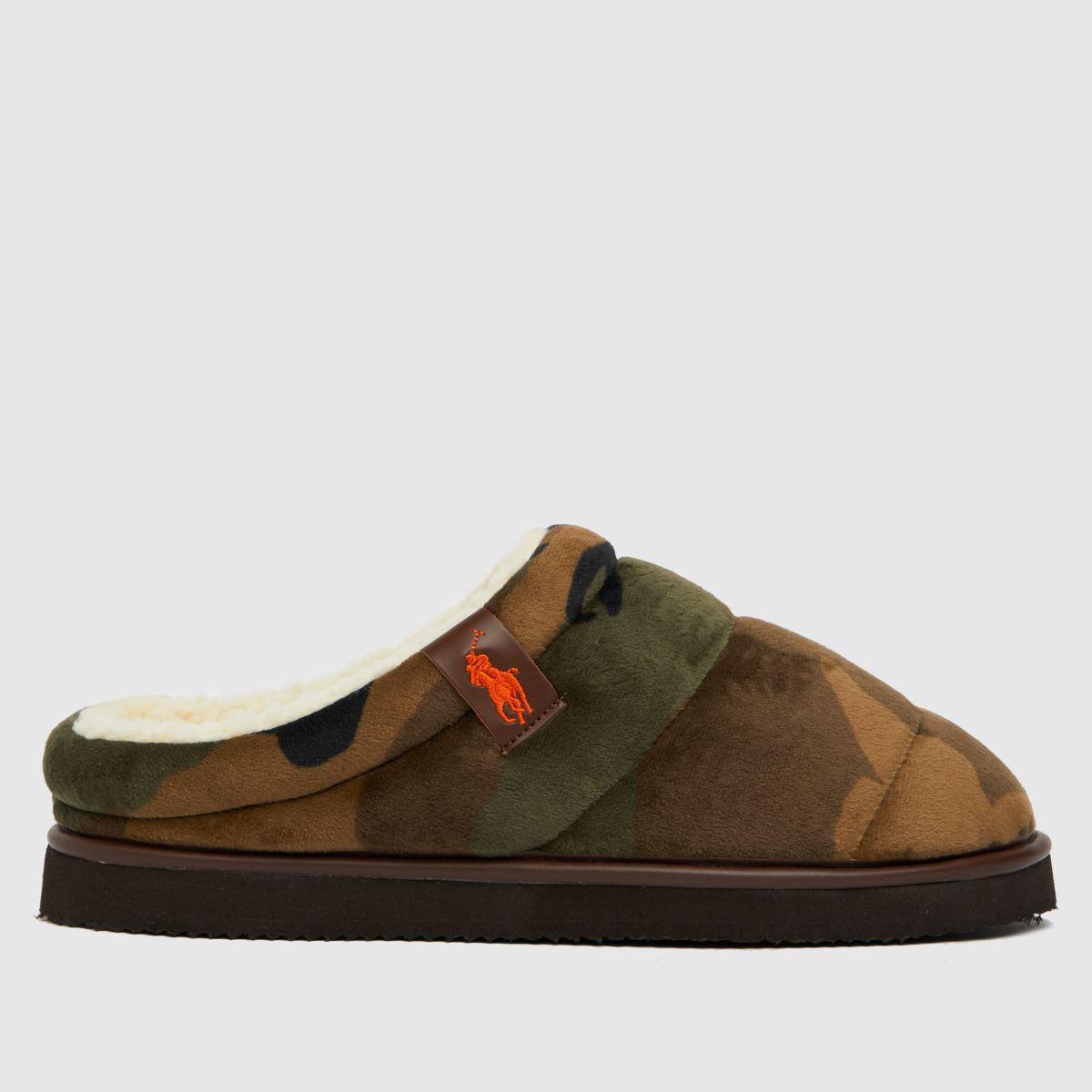 Polo Ralph Lauren Dark Green Rl Sutton Slippers