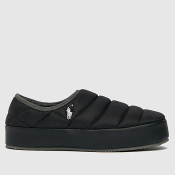 Polo Ralph Lauren Black Maxson Mens Slippers