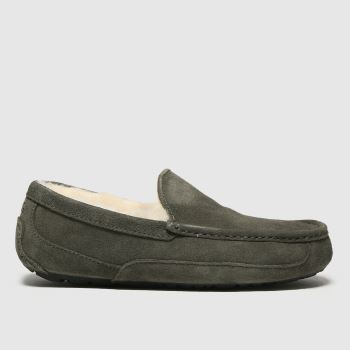 UGG Grey Ascot Mens Slippers