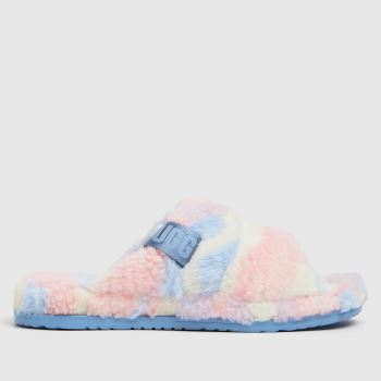 UGG Pale Pink Fluff You Cali Pride Mens Slippers