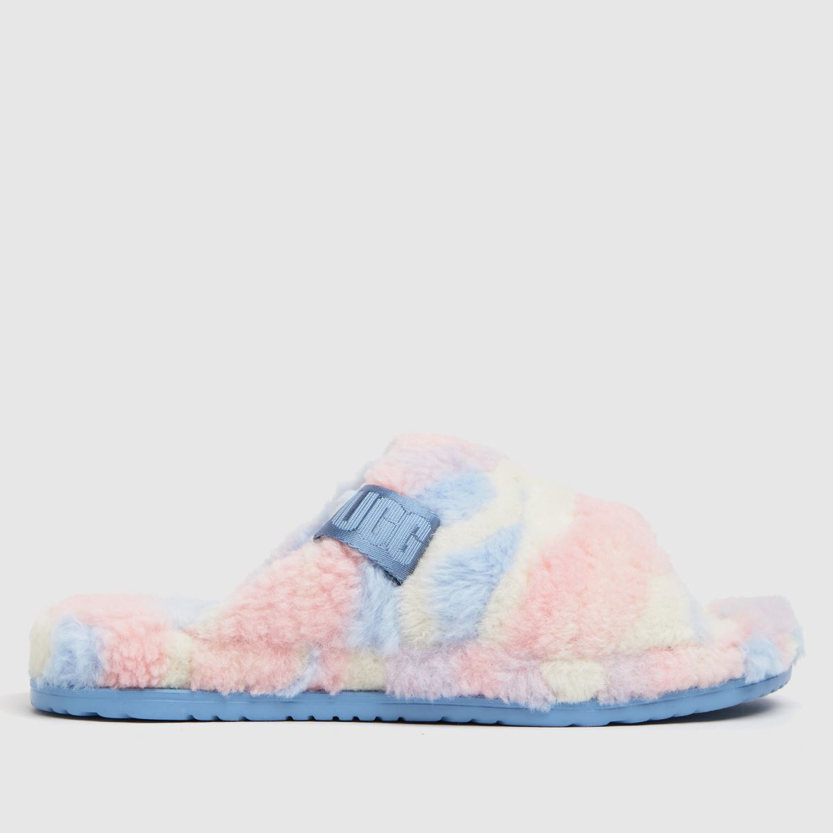 UGG Pale Pink Fluff You Cali Pride Slippers
