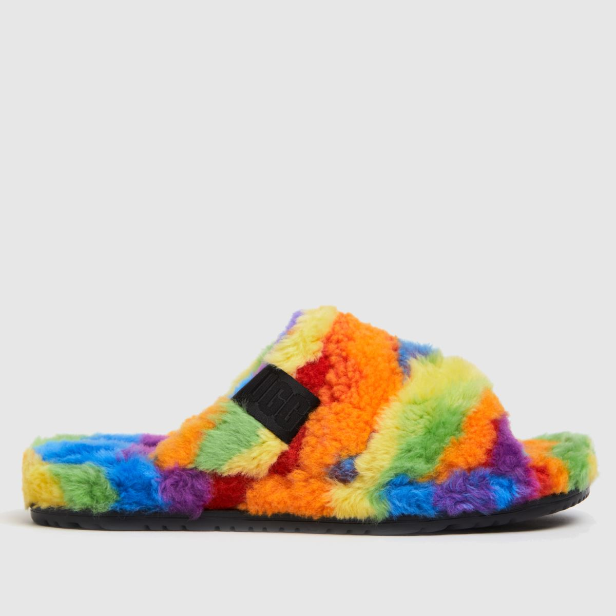 UGG Multi Fluff You Cali Pride Slippers