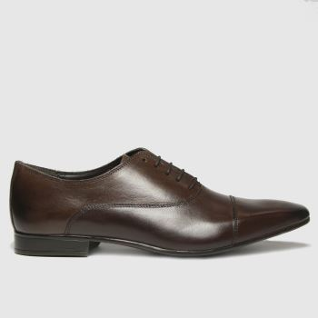 schuh Brown Russel Toe Cap Oxford Mens Shoes