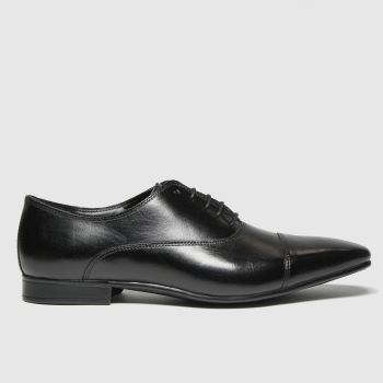 schuh Black Russel Toe Cap Oxford Mens Shoes