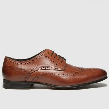 schuh Brown Rowen Brouge Mens Shoes