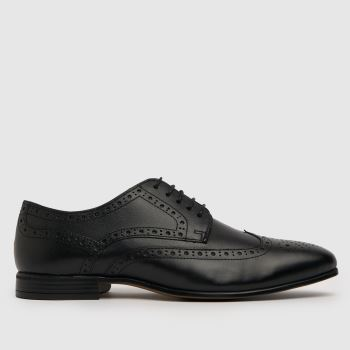 schuh Black Rowen Brouge Mens Shoes