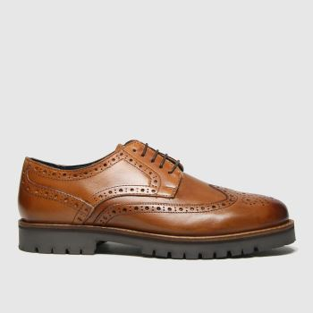 schuh Tan Quintin Leather Brogue Mens Shoes