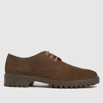 schuh Natural Rayner Suede 3 Eye Derby Mens Shoes