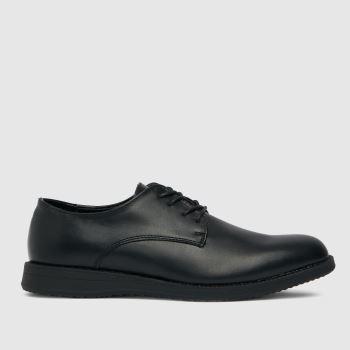 schuh Black Roy Plain Derby Mens Shoes