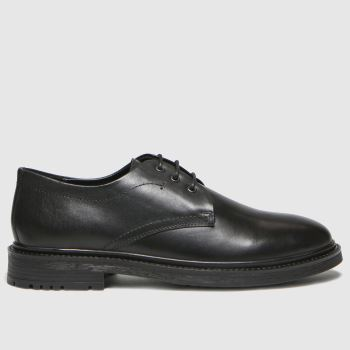 schuh Black Raf Derby Mens Shoes