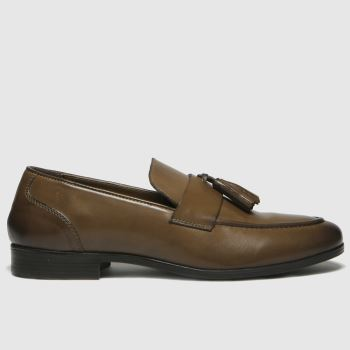 schuh Tan Ross Tassel Mens Shoes
