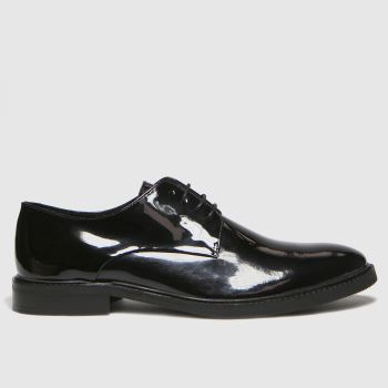 schuh Black Ray Patent Mens Shoes