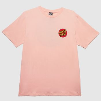 Santa Cruz Pink Classic Dot T-shirt Womens Tops