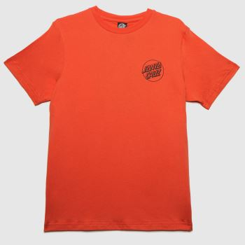 Santa Cruz Orange Dressen Dog T-shirt Womens Tops