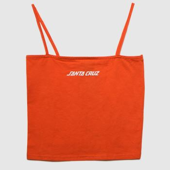 Santa Cruz Orange Strip Vest Womens Tops