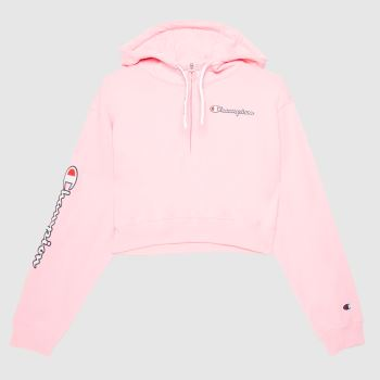 Champion Pink Hooded Sweatshirt Tops