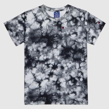 Champion Black & Grey Tie Dye T-shirt Womens Tops