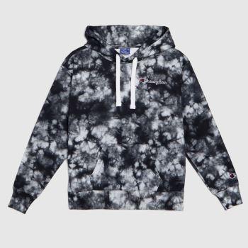 Champion Schwarz-Grau Hooded Sweatshirt Tops für Damen