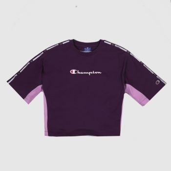 Champion crewneck t-shirt in purple