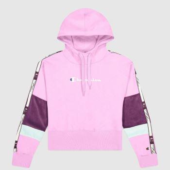 Champion Pink Hooded Half Zip Tops für Damen